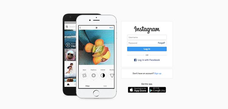 Instagram desktop site