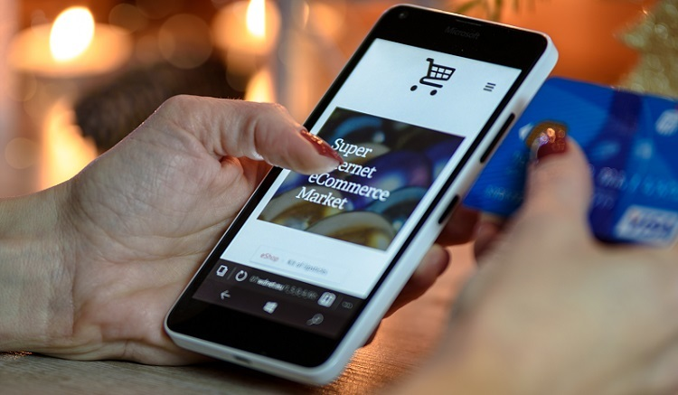 Online shopping on mobile device