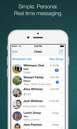 WhatsApp chat screen