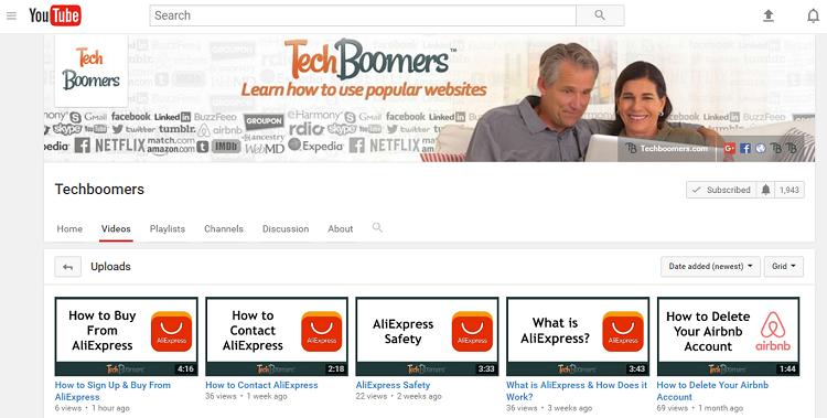 TechBoomers YouTube channel