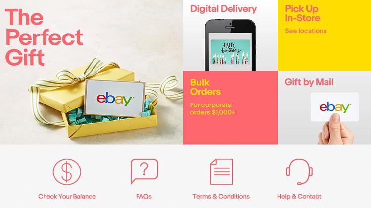 eBay gift card banner