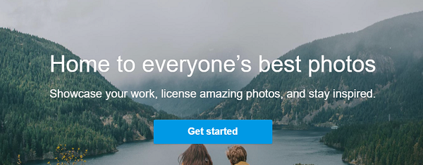 500px home screen
