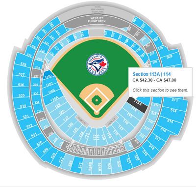 Select tickets with a seat map