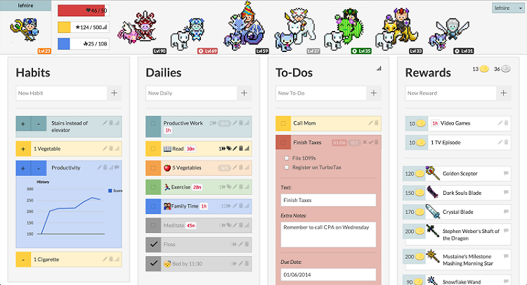 Add to-do tasks to Habitica