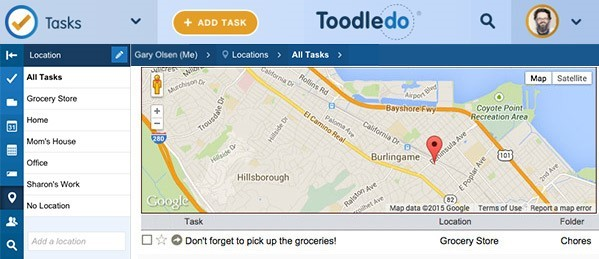 Screenshot of Toodledo