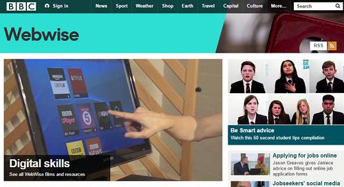 BBC Webwise homepage