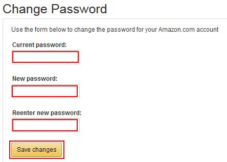 Save new Amazon password