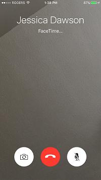 FaceTime video call screen