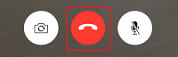 End call button