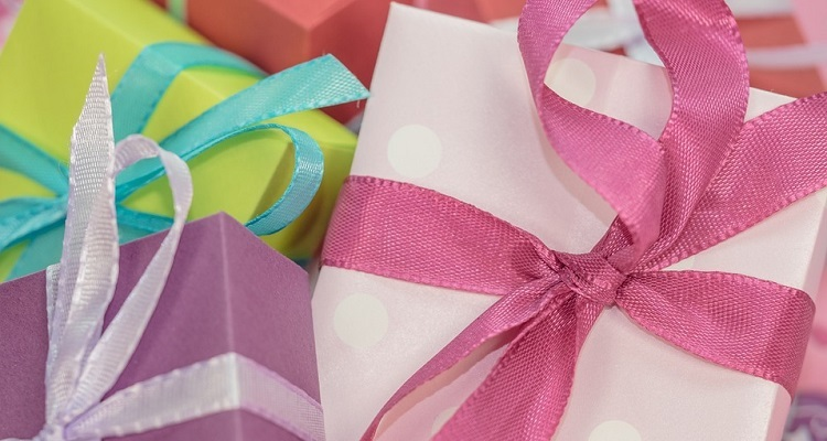 Presents wrapped in colourful paper
