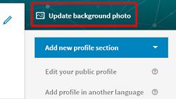 Update LinkedIn background photo