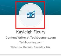 Add photo to LinkedIn profile