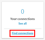 Find connection button