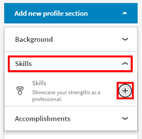 Add skills to your LinkedIn profile