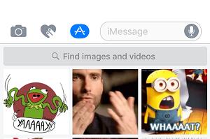 iMessage GIF search