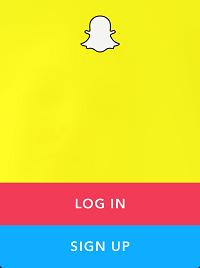 Snapchat home screen