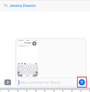 Send a photo or video in an iMessage