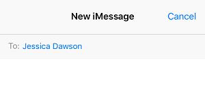 Start a new iMessage conversation