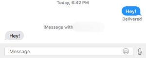 Send iMessage on Mac