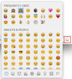 Add emoji to your message