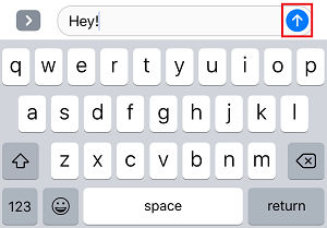 iMessage send button