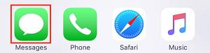 Launch Messages app