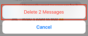 Delete all selected messages