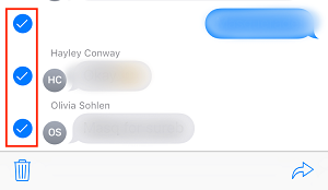 Select messages you want to erase