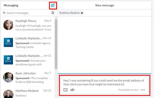 Send a message on LinkedIn