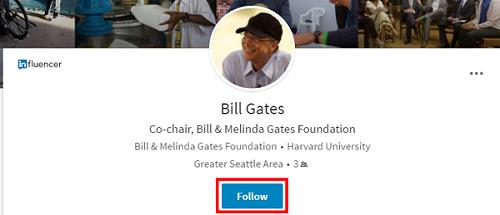 Follow users on LinkedIn