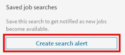 Create search alerts