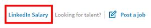 LinkedIn salary menu