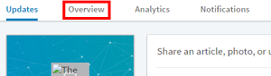 LinkedIn Company Page editing mode