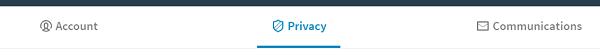 Privacy settings menu
