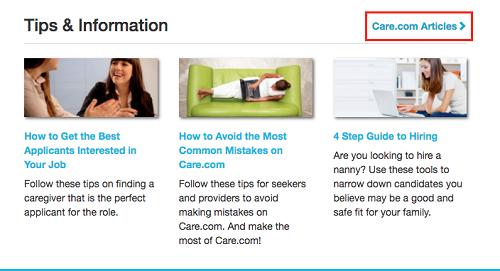 Care.com articles