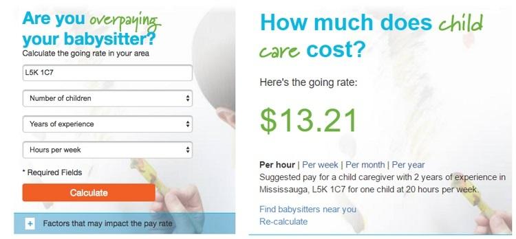 Care.com pay calculator