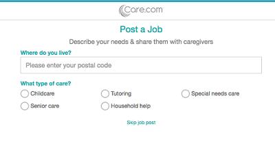 Enter job information