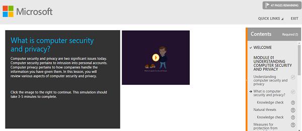 Microsoft digital literacy modules example