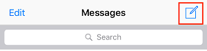 Compose new message button