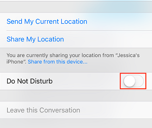 Do not Disturb toggle