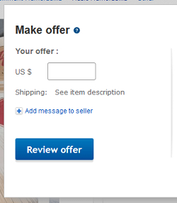 Make an offer on an item on eBay