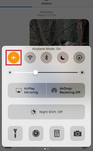 Airplane mode setting