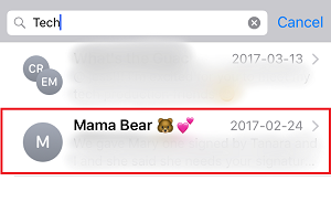Select the message you are looking for