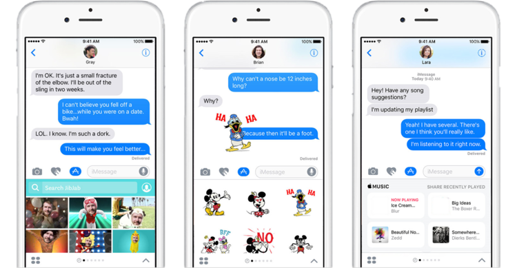iPhone with iMessages