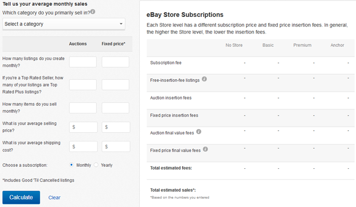 eBay fee illustrator