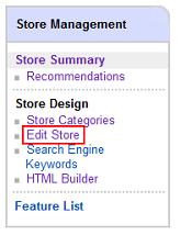 Edit eBay Store design
