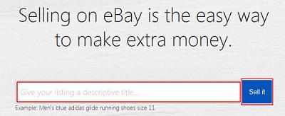 eBay selling search bar