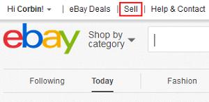 eBay Sell menu