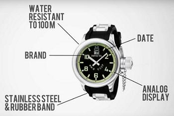 Descriptive information about a watch