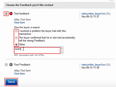 Send request for feedback revision